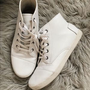 Toms Shoes - white high top shoes